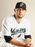 Florida Marlins Photo Day, JUPITER, FL - FEBRUARY 23: Ricky Nolasco Photographic Print by Mike Ehrmann