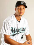 Florida Marlins Photo Day, JUPITER, FL - FEBRUARY 23: Leo Nunez Photographic Print by Mike Ehrmann