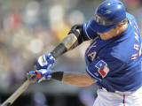 Kansas City Royals v Texas Rangers, SURPISE, AZ - FEBRUARY 27: Josh Hamilton Photographic Print by Rob Tringali