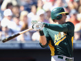 Oakland Athletics v Seattle Mariners, PEORIA, AZ - MARCH 12: Ryan Sweeney Photographie par Christian Petersen