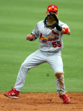 St. Louis Cardinals v Florida Marlins, JUPITER, FL - MARCH 01: Skip Shumaker Photographic Print by Marc Serota