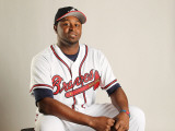 Atlanta Braves Photo Day, LAKE BUENA VISTA, FL - FEBRUARY 21: Jairo Asencio Photographic Print by Mike Ehrmann