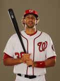 Washington Nationals Photo Day, VIERA, FL - FEBRUARY 25: Michael Morse Photographic Print by Al Bello