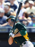 Oakland Athletics v Seattle Mariners, PEORIA, AZ - MARCH 12: Kevin Kouzmanoff Photographic Print by Christian Petersen