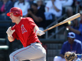 Los Angeles Angels of Anaheim v Texas Rangers, SURPRISE, AZ - MARCH 02: Mike Trout Photographic Print by Christian Petersen