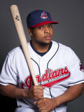 Cleveland Indians Photo Day, GOODYEAR, AZ - FEBRUARY 22: Carlos Santana Photographic Print by Rob Tringali