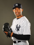 New York Yankees Photo Day, TAMPA, FL - FEBRUARY 23: Mariano Rivera Photographic Print by Al Bello