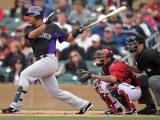 Colorado Rockies v Arizona Diamondbacks, SCOTTSDALE, AZ - FEBRUARY 26: Jose Lopez Photographic Print by Jonathan Ferrey