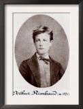 Arthur Rimbaud Reckless and Rebellious French Poet, 1870 Posters