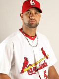 St. Louis Cardinals Photo Day, JUPITER, FL - FEBRUARY 24: Albert Pujols Photographic Print by Mike Ehrmann