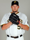 Pittsburgh Pirates Photo Day, BRADENTON, FL - FEBRUARY 20: Joel Hanrahan Photographic Print by J. Meric
