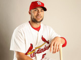 St. Louis Cardinals Photo Day, JUPITER, FL - FEBRUARY 24: Skip Schumaker Photographic Print by Mike Ehrmann