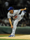 Los Angeles Dodgers v Cincinnati Reds, GOODYEAR, AZ - MARCH 03: Blake Hawksworth Photographic Print by Norm Hall