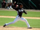 New York Mets v Florida Marlins, JUPITER, FL - MARCH 04: Leo Nunez Photographie par Marc Serota