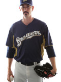 Milwaukee Brewers Photo Day, MARYVALE, AZ - FEBRUARY 24: John Axford Photographic Print by Jonathan Ferrey