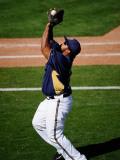 Colorado Rockies v Milwaukee Brewers, PHOENIX, AZ - MARCH 10: Prince Fielder Photographic Print by Kevork Djansezian