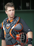Arizona Diamondbacks v San Francisco Giants, SCOTTSDALE, AZ - FEBRUARY 25: Buster Posey Photographic Print by Rob Tringali