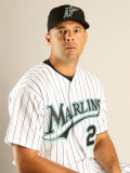 Florida Marlins Photo Day, JUPITER, FL - FEBRUARY 23: Javier Vazquez Photographic Print by Mike Ehrmann