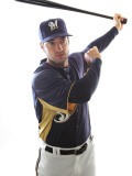 Milwaukee Brewers Photo Day, MARYVALE, AZ - FEBRUARY 24: Ryan Braun Photographic Print by Jonathan Ferrey
