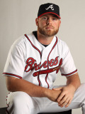 Atlanta Braves Photo Day, LAKE BUENA VISTA, FL - FEBRUARY 21: Brian McCann Photographic Print by Mike Ehrmann
