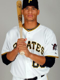 Pittsburgh Pirates Photo Day, BRADENTON, FL - FEBRUARY 20: Gorkys Hernandez Photographic Print by J. Meric