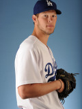 Los Angeles Dodgers Photo Day, GLENDALE, AZ - FEBRUARY 25: Clayton Kershaw Photographic Print by Harry How