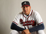 Atlanta Braves Photo Day, LAKE BUENA VISTA, FL - FEBRUARY 21: Jesus Sucre Photographic Print by Mike Ehrmann