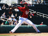 Cleveland Indians v Cincinnati Reds, GOODYEAR, AZ - FEBRUARY 28: Aroldis Chapman Photographic Print by Norm Hall