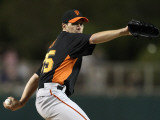 San Francisco Giants v Los Angeles Dodgers, GLENDALE, AZ - MARCH 04: Barry Zito Photographic Print by Christian Petersen