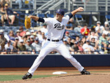 Oakland Athletics v San Diego Padres, PEORIA, AZ - MARCH 06: Colt Hynes Photographic Print by Christian Petersen