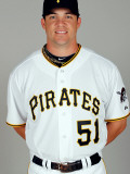 Pittsburgh Pirates Photo Day, BRADENTON, FL - FEBRUARY 20: Steve Pearce Photographic Print by J. Meric
