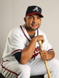 Atlanta Braves Photo Day, LAKE BUENA VISTA, FL - FEBRUARY 21:  Alex Gonzalez  2 Photographic Print by Mike Ehrmann