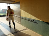 Atlanta Braves Photo Day, LAKE BUENA VISTA, FL - FEBRUARY 21:  Chipper Jones 10 Photographic Print by Mike Ehrmann