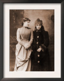 Sarah Bernhardt, French Actress, with Her English Contemporary, Actress Lillie Langtry, 1887 Prints