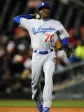 Los Angeles Dodgers v Cincinnati Reds, GOODYEAR, AZ - MARCH 03: Dee Gordon Photographic Print by Norm Hall