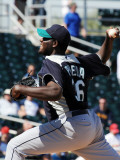 Seattle Mariners v Cleveland Indians, GOODYEAR, AZ - MARCH 11: Michael Pineda Photographic Print by Norm Hall