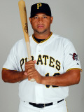Pittsburgh Pirates Photo Day, BRADENTON, FL - FEBRUARY 20: Andy Marte Photographic Print by J. Meric