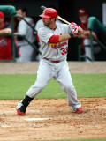 St. Louis Cardinals v Florida Marlins, JUPITER, FL - MARCH 01: Daniel Descalso Photographic Print by Marc Serota