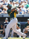 Oakland Athletics v Seattle Mariners, PEORIA, AZ - MARCH 12: Chris Carter Photographic Print by Christian Petersen