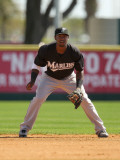 Florida Marlins v Washington Nationals, VIERA, FL - MARCH 02: Hanley Ramirez Photographic Print by Mike Ehrmann