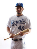 Kansas City Royals Photo Day, SURPRISE, AZ - FEBRUARY 23: Eric Hosmer Photographic Print by Jonathan Ferrey