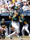 Oakland Athletics v San Diego Padres, PEORIA, AZ - MARCH 06: Daric Barton Photographic Print by Christian Petersen