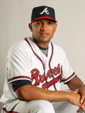 Atlanta Braves Photo Day, LAKE BUENA VISTA, FL - FEBRUARY 21: Diory Hernandez Photographic Print by Mike Ehrmann