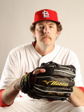 St. Louis Cardinals Photo Day, JUPITER, FL - FEBRUARY 24: Brian Tallet Photographic Print by Mike Ehrmann
