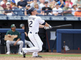 Oakland Athletics v San Diego Padres, PEORIA, AZ - MARCH 06: Logan Forsythe Photographic Print by Christian Petersen