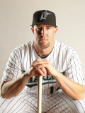 Florida Marlins Photo Day, JUPITER, FL - FEBRUARY 23: John Buck Photographic Print by Mike Ehrmann