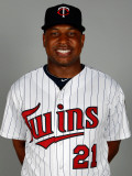 Minnesota Twins Photo Day, FORT MYERS, FL - FEBRUARY 25: Delmon Young Photographic Print by J. Meric