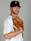 Pittsburgh Pirates Photo Day, BRADENTON, FL - FEBRUARY 20: Aaron Thompson Photographic Print by J. Meric