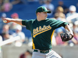 Oakland Athletics v Milwaukee Brewers, PHOENIX, AZ - MARCH 03: Trevor Cahill Photographic Print by Christian Petersen