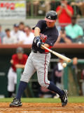 Atlanta Braves v Houston Astros, KISSIMMEE, FL - MARCH 01: Chipper Jones Photographic Print by Mike Ehrmann